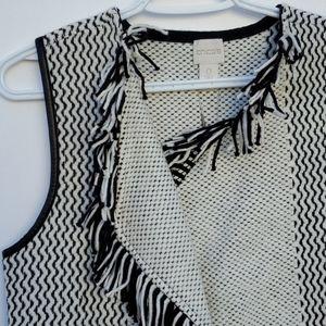 COPY - Chico's sleeveless sweater vest fringed bl…